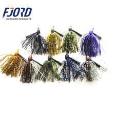 FJORD Wholesale Cheap High Quality Swim Bait Rubber Jig Bass Fishing Lure Lead Flipping Jig Heads