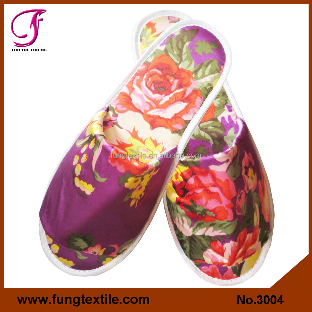 Fung 3004 Women Silk Satin Manufacturer Of Slipper Wholesale
