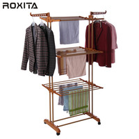 RT-300W2 balcony large indoor trolley floor standing clothes drying rack malaysia