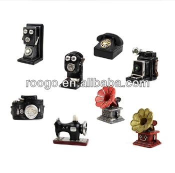 Roogo Zakka Resin vintage gifts camera retro phone decoration vintage home decor