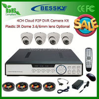 4CH security and protection,CCTV Standalone DVR System Kit