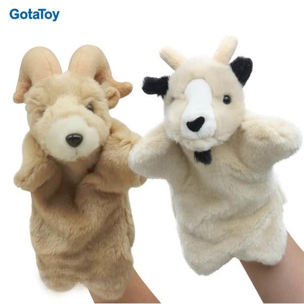 Hot sales custom plush goat hand puppet