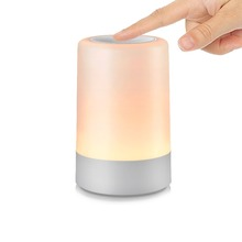 2018 usb rechargeable and portable night light LED table lamp touch sensor bedside lamps