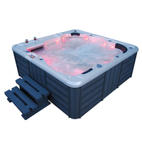 Luxurious Bubble Spa Bathtub Spa Bath Europe Sexy Massage Hottube Spa With Tv