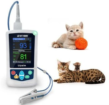 Animal Hospital Use Utech UT100V Veterinary/Pet Handheld Pulse Oxymeter