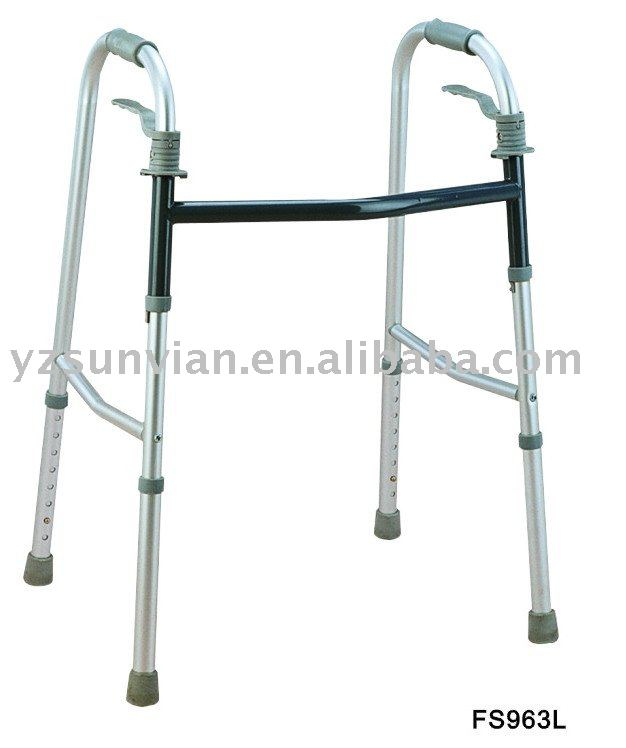Foldable long lifetime Aluminum walking aids for disabled