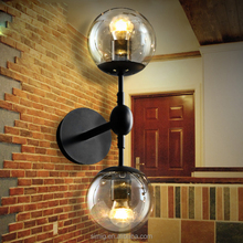 Industrial loft antique light E27*2 Edison lamp holder glass ball garden vintage wall lamp