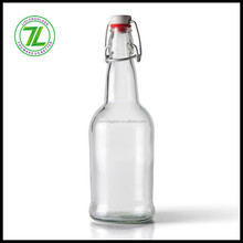 16 oz Glass Beer Bottles Home Brewing Beer Bottle 12 Pack with Flip Caps