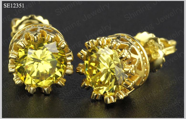 mens yellow diamond earrings best earring 2017