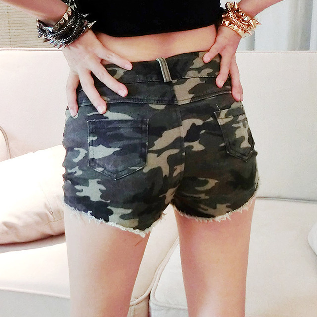 ZH0041G Summer Women Camouflage Camo Military Army mini Shorts Pants Trousers High Waist