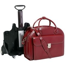 multi-functional dual Laptop Protection System double compartment leather luggage