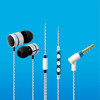 Cell phone headphone stereo wire with control unit and volume made for iphone