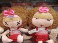 lovely stuffed cartoon plush girl with different facial expression
