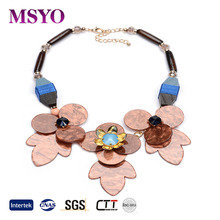 MSYO brand factory wholesale flower handmade jewelry Wooden necklace