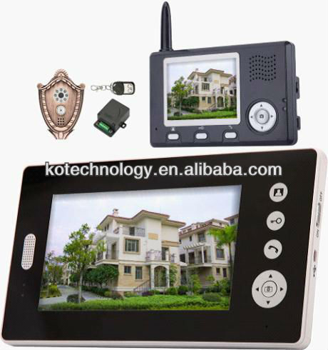 High Definition Video Door Phone System with IR LED Night Vision Monitoring Outdoor Situation for Villa KO-VD100