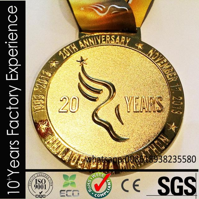 CR-uu618_medal Plastic champinon award metal medallion made in China