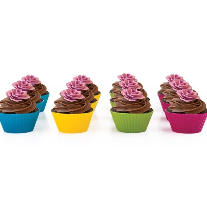 Amazon hot sell style muffin cup silicone cake mold