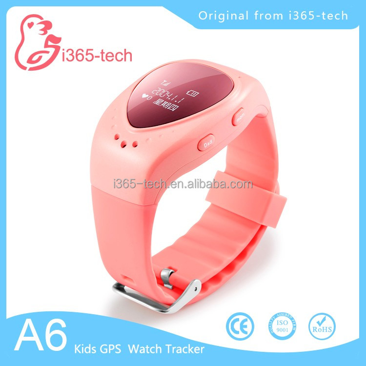 kids GPS tracker smart watch A6 with GSM SOS calling function for children kids watch