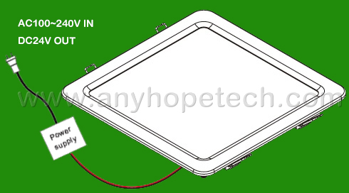 Ultra thin recessed 7000K outdoor led ceiling mount light