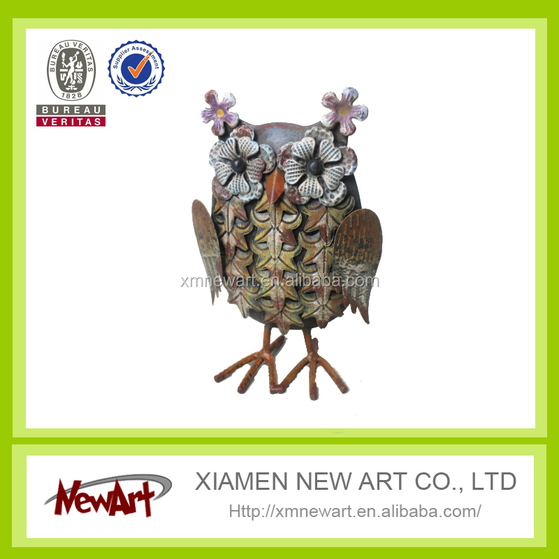 Garden and home decoration craft art metal bird owl toy