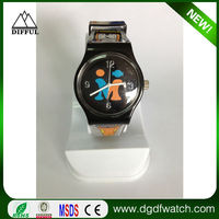 Free sample printed logo silicone jelly watch 2015, strap changeable silicone jelly watch 2015