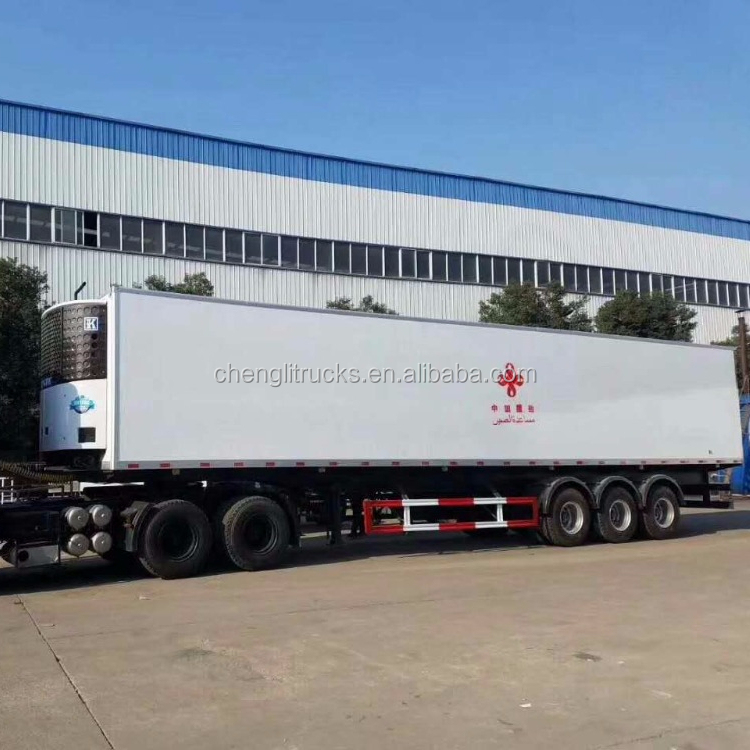 Hot selling Tri-axle 50ton Refrigerator Freezer Container Semi Trailer for food transport