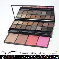 20 color makeup kit,eyeshadow blusher face powder compact cosmetic box