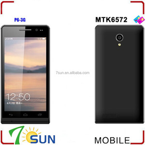 New Unlocked 4.7 inch P6 Android 4.2 Smartphone MTK6572 Dual SIM GSM WIFI custom android mobile phone