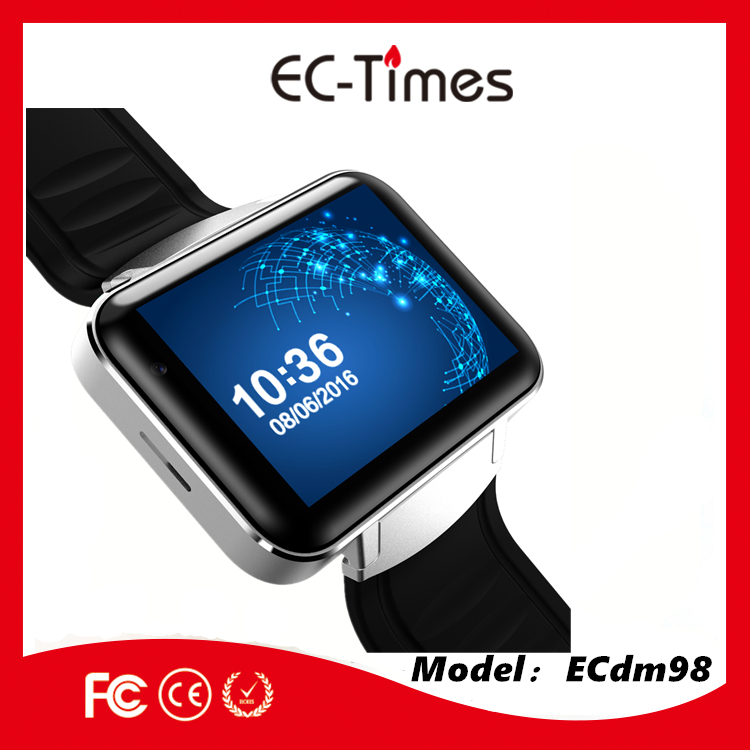 ECDM98 Android WIfi GPs Smart Watch Phone MTK6580 quad core 1.2GHZ ROM 4GB + RAM 512MB 1.39 inch 400*400 Screen smart watch