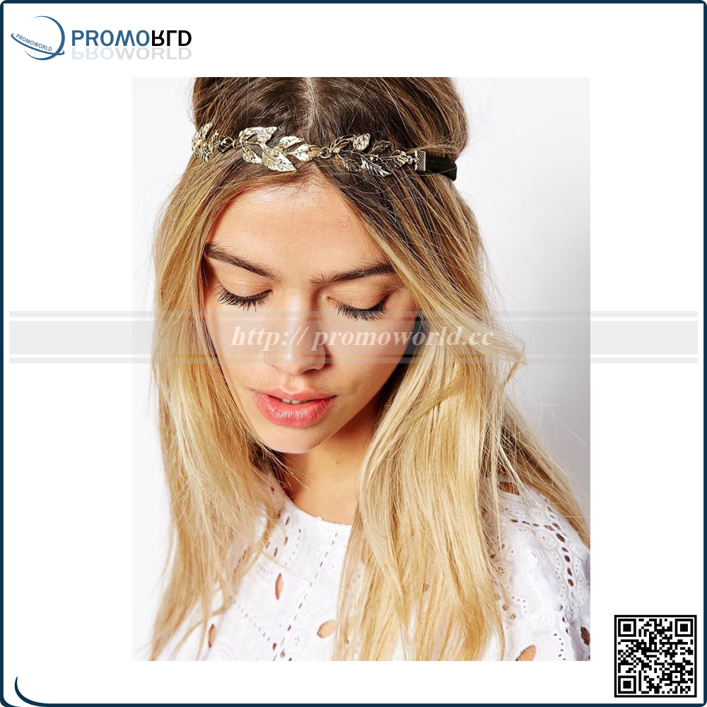 Fashion Hot Sale Tiara Noiva Metal Gold Chain antique color Hairband For Wedding Bridal Hair Accessory Women Forehead Jewelry