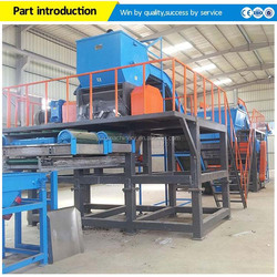 Hot sale used tire processing/renewable tire processing to rubber powder/waste tire processing production line
