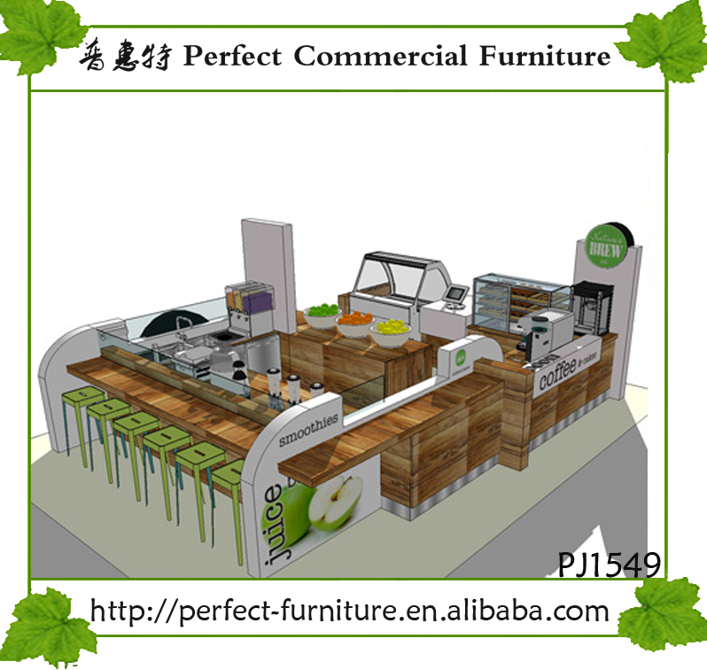 juice bar kiosk design and smoothies kiosk for sale