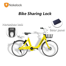 Intelligent bicycle Locking system with Solar panel GPS alarming sensor for dock-less bike share nokelock