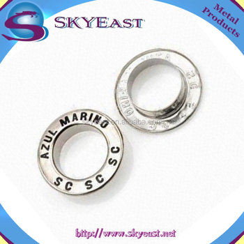 Customized Design Decorative Enamel Logo Metal Flat Eyelets