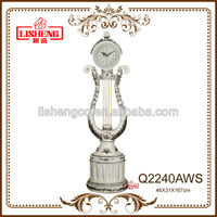European classical living room polyresin art floor clock Q2240AWS