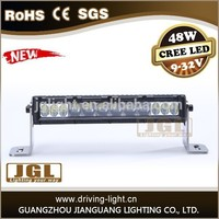 Newest led light bars 48w offroad bull bar led light bar with waterproof ip68 for tow trucks