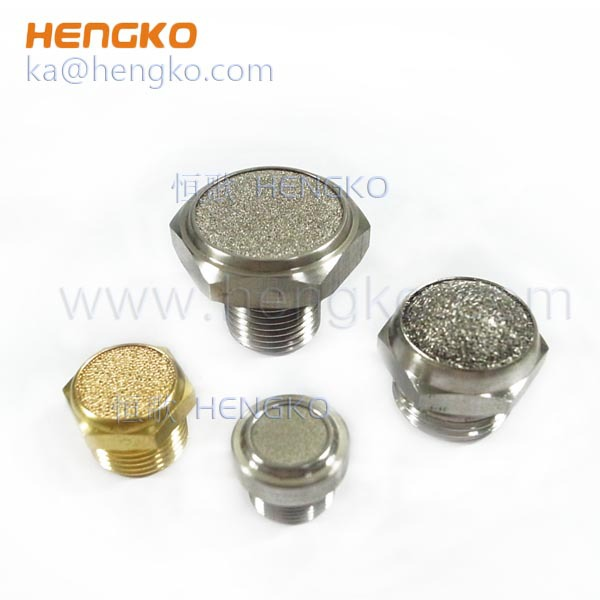 sintered brass stainless steel breather plugs