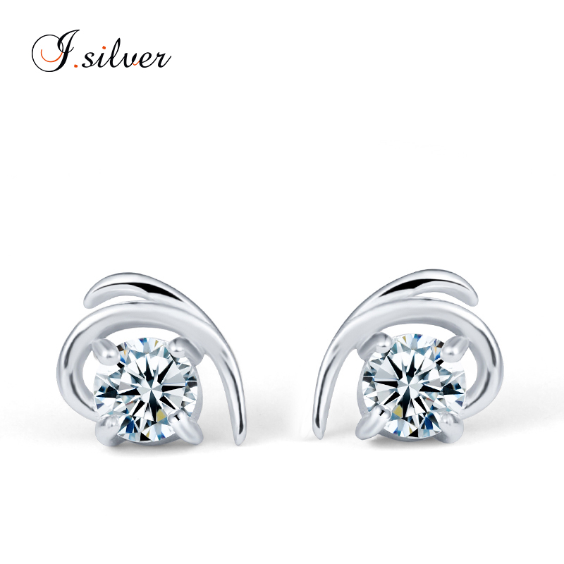 wholesale 925 sterling Silver cz heart shaped stud earring silver <strong>jewelry</strong> LQE6867