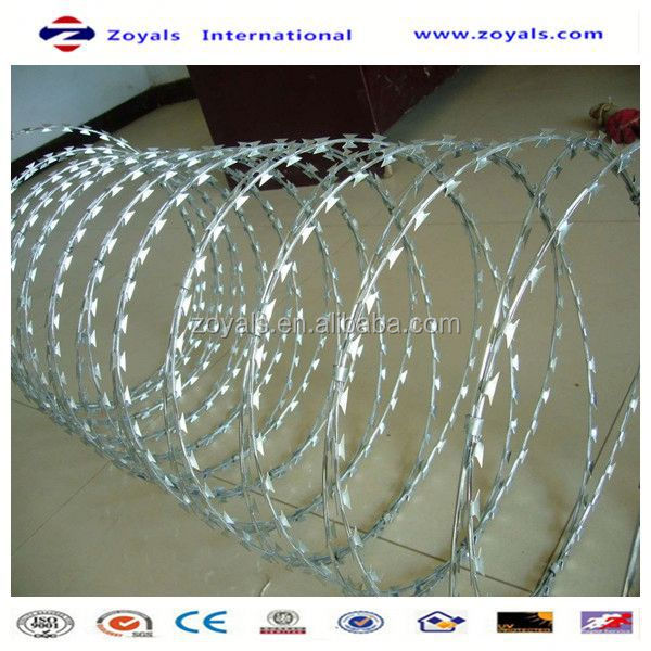 2015 Superior quality:concertina wire for sale/ concertina razor wire /weight barbed wire
