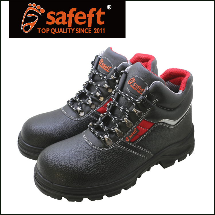 Black action embossed biasic safety shoes best selling