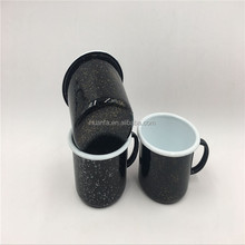 Creative design can be customised speckle color camping enamel coffee mug <strong>cup</strong>