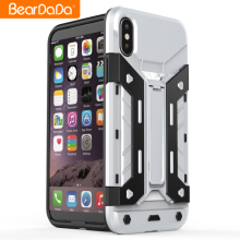 Anti shock kickstand tpu pc heavy duty mobile back cover case for iphone 10 x