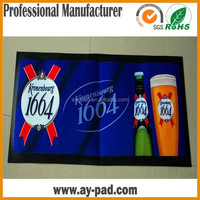 AY OEM Flexible Beer Accessories Northwest Rubber Mats For Beer Promotion, Nitrile Rubber Bar Runer