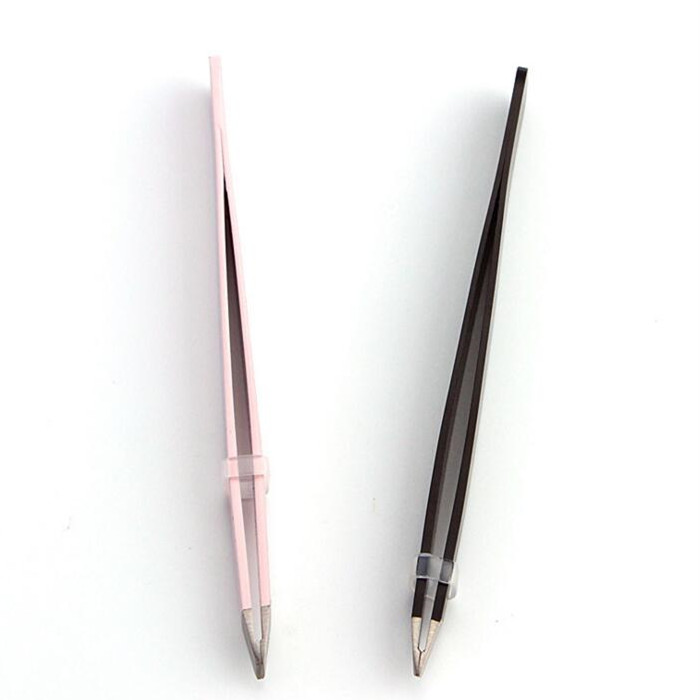 Stainless steel manicure tools eyebrow tweezer eyebrow shaper