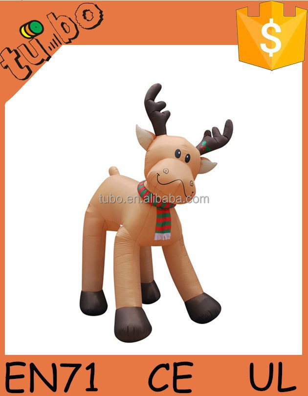 11' Tall Animated Airblown Christmas Inflatable Standing Reindeer
