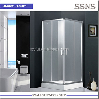 Corner Glass Shower Enclosure with Tray 900x900 (TITA02)