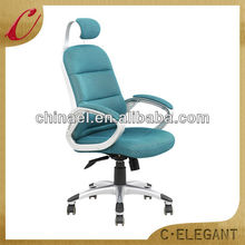 Shining green colors headrest high desity foam mesh office chair
