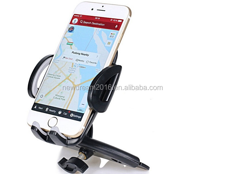 Car Mount, Universal Car Mount Holder One Touch Installation Cd Slot Cradle for Iphone 6S 6 Plus 6s Plus/5S/5C/5