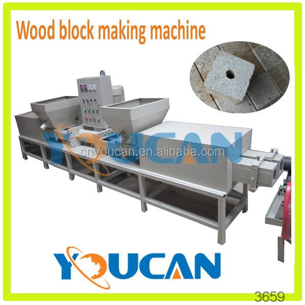 Industrial large output sawdust wood pallet block production line