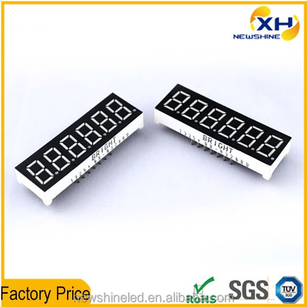 Wholesale Free Sample 0.36 Inch 6 Digit clock digital led segment display
